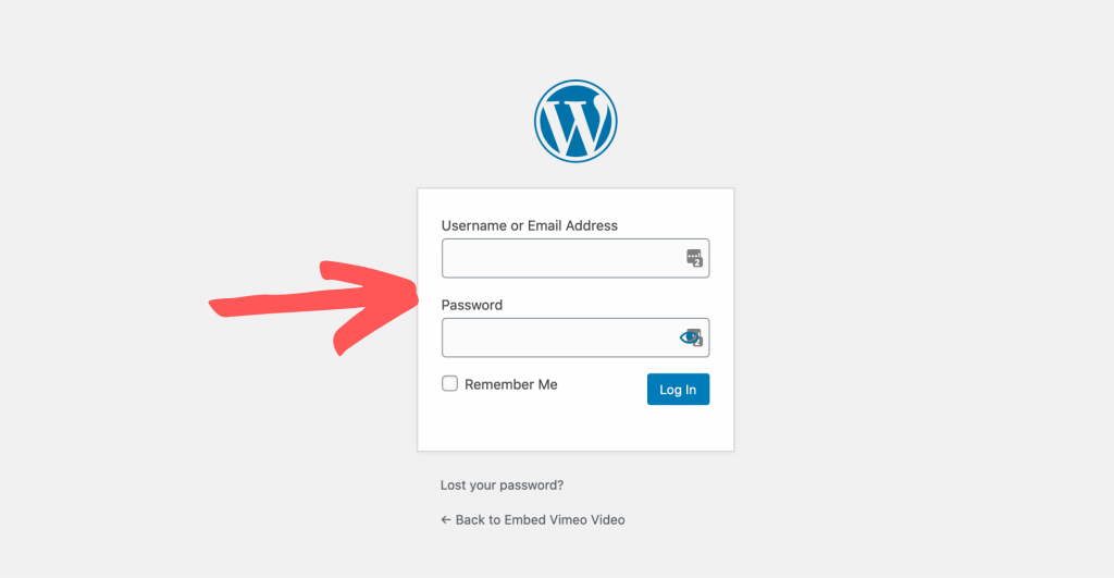 9 Login to WordPress